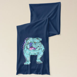 English Bulldog unique colorful pop dog art Scarf