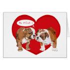 English Bulldog Valentine Card