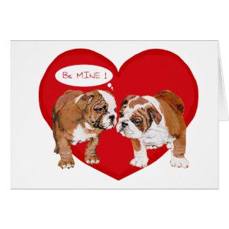 English Bulldog Valentine Greeting Cards