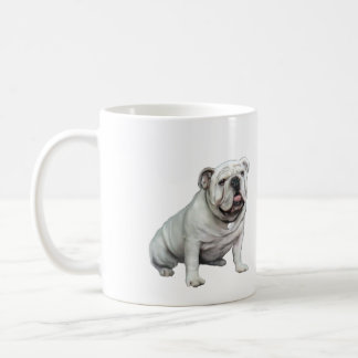 English Bulldog - White 1 Mugs