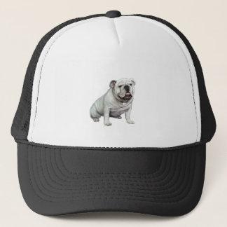 English Bulldog - White 1 Trucker Hat
