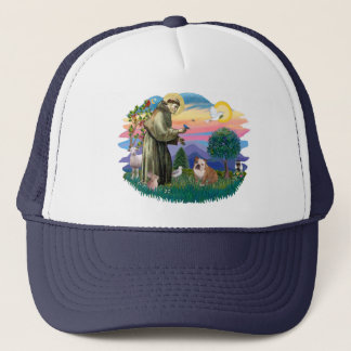 English Bulldog (white-brown) Trucker Hat