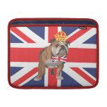 English Bulldog with Crown Macbook Cover MacBook Air Sleeves
