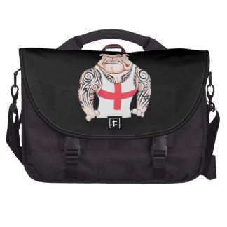 English Bulldog with Tribal Tattoos Bag For Laptop