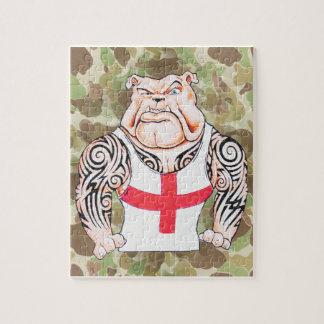 English Bulldog with Tribal Tattoos Puzzle