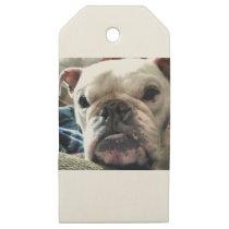 English Bulldog Wooden Gift Tags