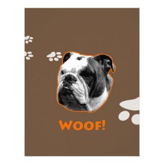 English Bulldog Woof Letterhead