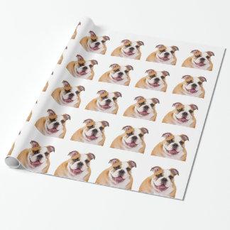 English Bulldog Wrapping Paper