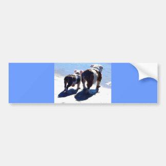 English Bulldogs Car Bumper Sticker