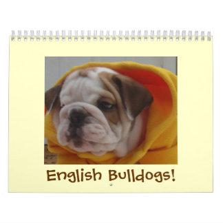 English Bulldogs Calendar! Calendar