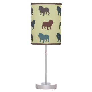 English Bulldogs Pattern Table Lamp