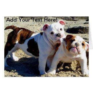 English Bulldogs Puppy Love! Card