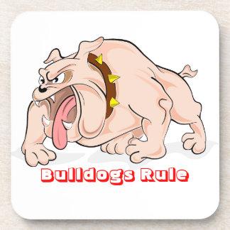 English Bulldogs Rule Cartoon Mascot Coaster Set