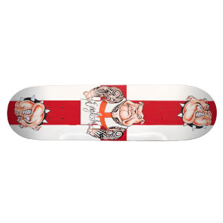 English Bulldogs Tattoos and St Georges Cross Skateboard Deck