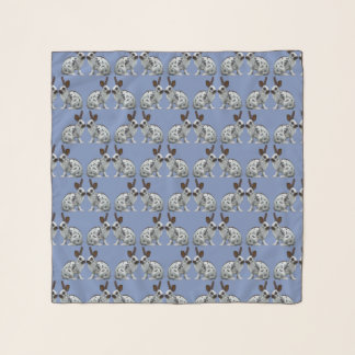 English Bunny Frenzy Chiffon Scarf (Light Blue)