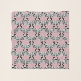 English Bunny Frenzy Chiffon Scarf (Pink)