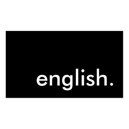 english teacher business card templates