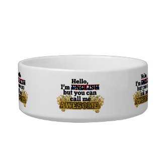 English, but call me Awesome Cat Food Bowls