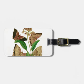 English Butterflies Luggage Tag
