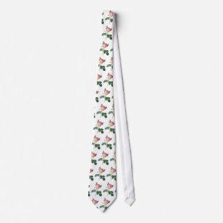 English Cabbage Rose Tie