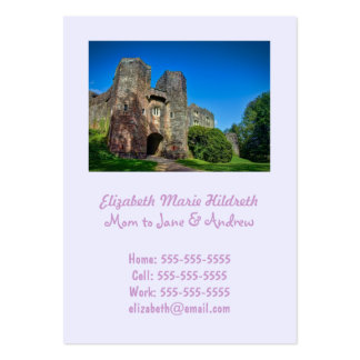 English Castle Entrance on a Summer's Day Large Business Card
