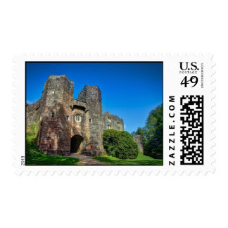 English Castle Entrance on a Summer's Day Postage