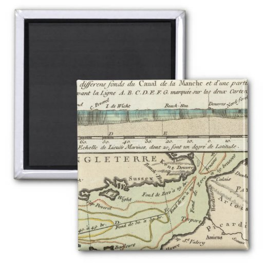 English Channel 2 Inch Square Magnet