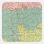 English Channel Square Sticker
