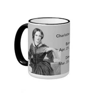 English:  Charlotte Bronte Ringer Mug