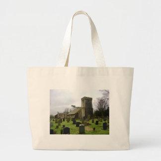 English churchyard large tote bag