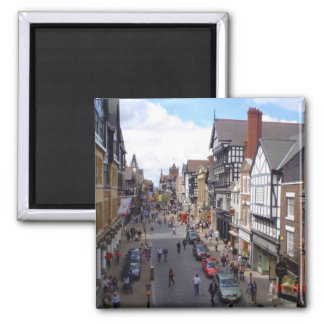 English City of Chester 2 Inch Square Magnet