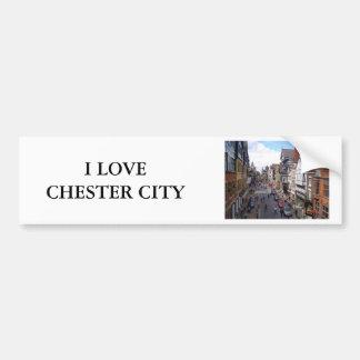 English City of Chester Bumper Sticker