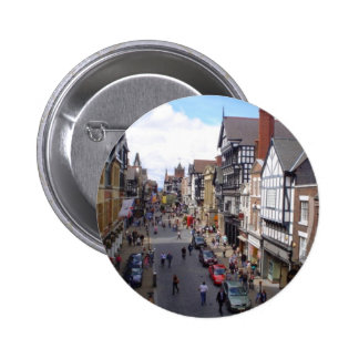 English City of Chester Pinback Buttons