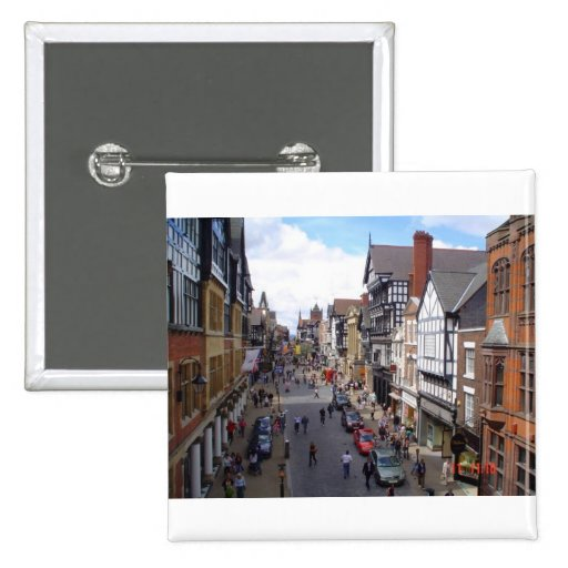 English City of Chester Pinback Button