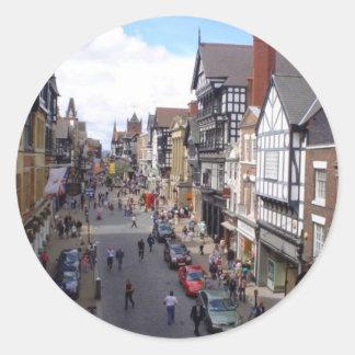 English City of Chester Round Sticker