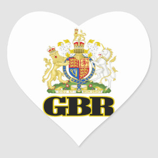 English Coat of Arms Heart Sticker