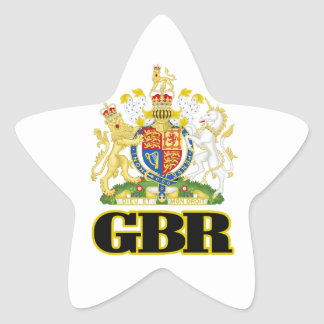 English Coat of Arms Star Sticker