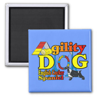 English Cocker Spaniel Agility Gifts Magnet