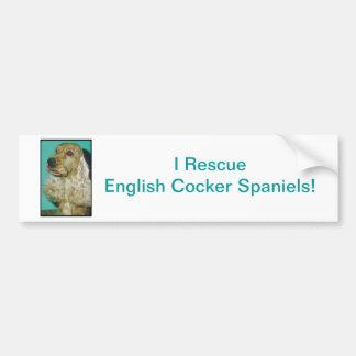 English Cocker Spaniel Car Bumper Sticker