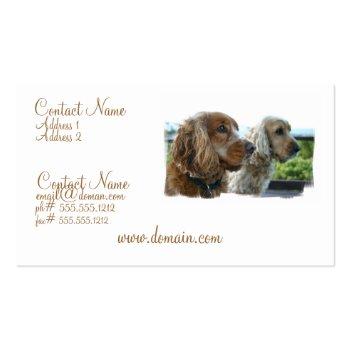 English Cocker Spaniel Business Card