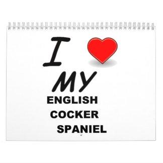 english cocker spaniel calendar
