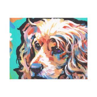 English Cocker Spaniel Canvas Wrapped Pop Art Canvas Print
