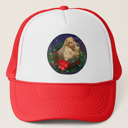 English Cocker Spaniel Christmas Gifts Trucker Hat