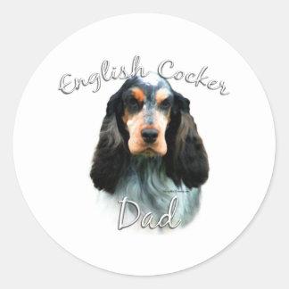 English Cocker Spaniel Dad 2 Classic Round Sticker