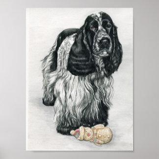 English Cocker Spaniel Dog Art Print