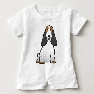English Cocker Spaniel Dog Cartoon Baby Romper