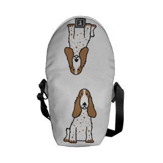English Cocker Spaniel Dog Cartoon Courier Bag