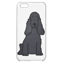Case Savvy Matte Finish iPhone 5C Case with Cocker Spaniel Phone Cases design