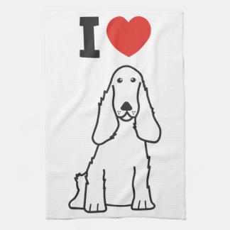 English Cocker Spaniel Dog Cartoon Kitchen Towel