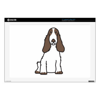 English Cocker Spaniel Dog Cartoon Laptop Skins